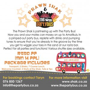 Prawn Shak and Party Bus package